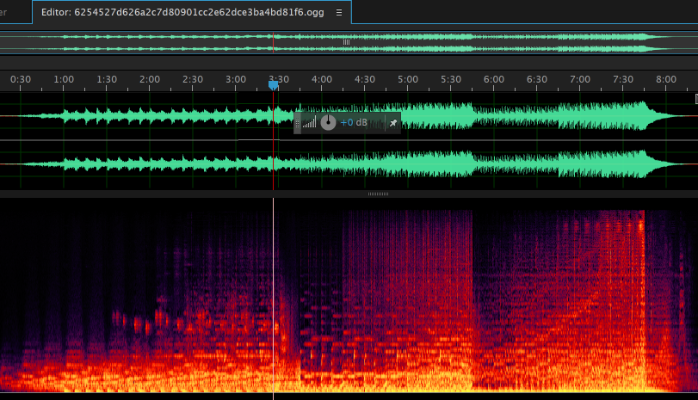 Adobe Audition editing the Minecraft Soundtrack